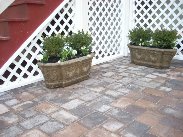 Formal courtyard using pavers... just installed in Wayne