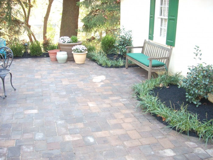 Pavers for a courtyard in Wayne, PA - After