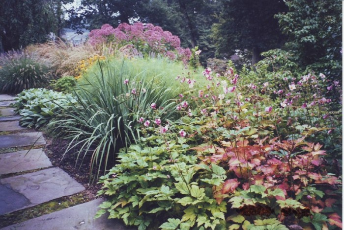 Backyard Landscaping Ideas - Perennial Garden in Devon