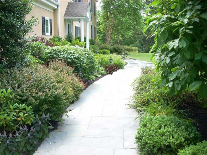 Front path and plantings in King of Prussia