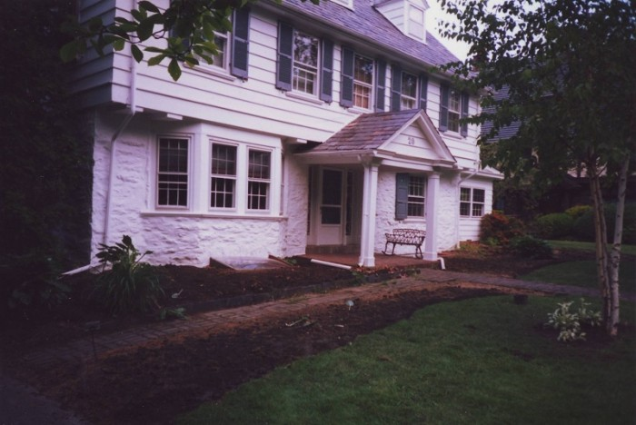 Landscaping Philadelphia - Foundation Planting in Merion - Before