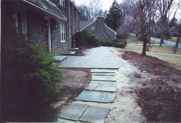 Landscaping Ideas - Front Walk and Perennial Garden in Penn Valley - Before