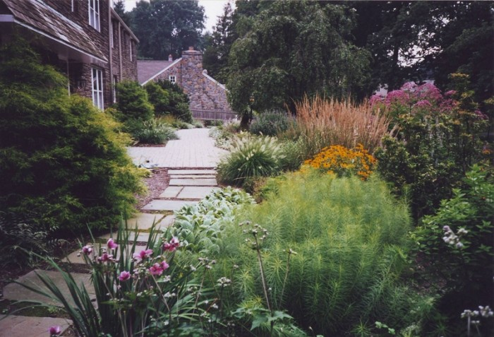 Landscaping Ideas - Front Walk and Perennial Garden in Penn Valley - After