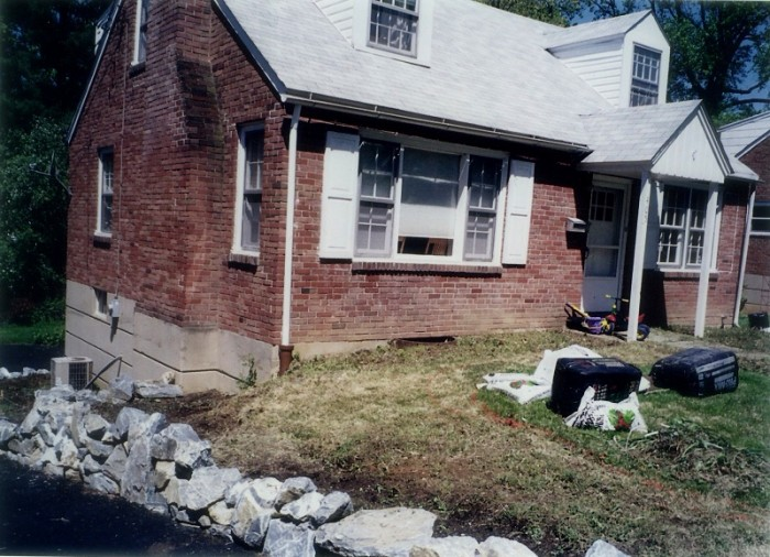 Philadelphia Landscaping - Cottage Garden in Wayne - Before