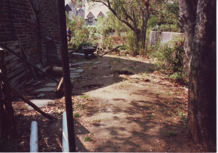 Backyard Designs - Japanese Garden in Wynnewood - Before